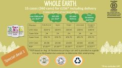 Whole Earth Sparkling Drinks - 15 cases