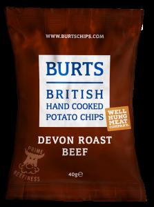 Burts Devon Roast Beef Crisps 20 x 40g