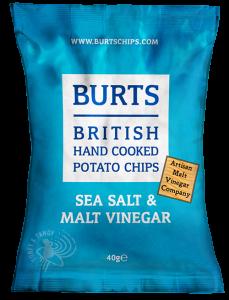 Burts Sea Salt & Vinegar Crisps 20 x 40g