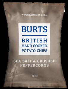 Burts Sea Salt & Crushed Peppercorns Crisps 20 x 40g