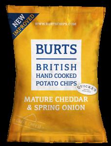 Burts Cheddar & Onion Crisps 20 x 40g