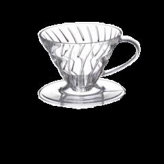 Hario Coffee Dripper V60 01 (Clear Plastic)