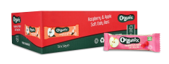 Organix Raspberry & Apple Oaty Bars 50 by 30g