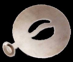 Stainless Steel Stencil (Coffee Bean)