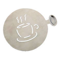 Stainless Steel Stencil (Coffee Cup)