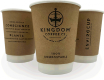 12oz Branded Double-Wall Compostable Disposable Enviro Cups 1 by 500