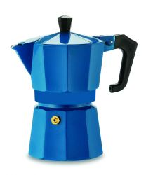 Pezzetti Italexpress 3 Cup Moka Pot Teal Blue