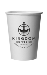 8oz Branded Single-Wall Disposable Economy Cups 1 by 1000
