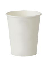 8oz Plain Single-Wall Disposable Paper Cups 1 by 1000
