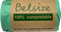 Biodegradable and Compostable Bin Liners 50litre