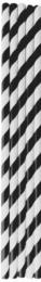Black & White Compostable Straws 200x6mm - 1 x 250