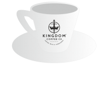 Kingdom Coffee Branded Espresso Cup & Saucer 1  x 6