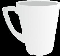 12oz Plain Latte Mug
