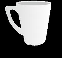 8oz Plain Latte Mug