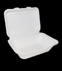 "Bagasse 7"" x 5"" Clamshell Takeaway Box 1 x 500"