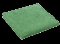 Green Microfibre Cloths 1 x 5