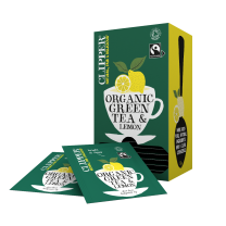 Clipper Fairtrade Organic Green Tea with Lemon 1 x 25