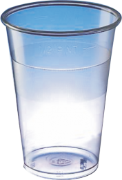 Recycled rPET Lined Pint Cups 1 x 1000