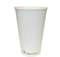 12oz White Single Walled Compostable Cups 1 x 1000
