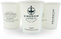 8oz Single-Wall Biodegradable Disposable Enviro Cups 1 by 1000
