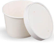 12oz Heavy-Duty Disposable Soup Cup & Lid Combi Pack 10 by 25