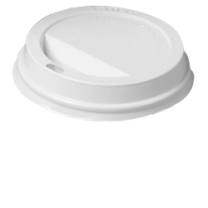 White Lids for 12oz/16oz Ripple Paper Cups 1 x 100