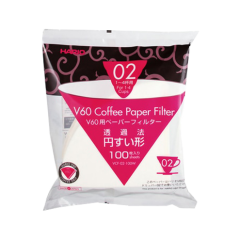 Hario V60 Paper Filter 02 Dripper 1 x 100 - Bleached
