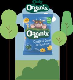 Organix Cheese & Onion Grufallo Claws 24 x 15g