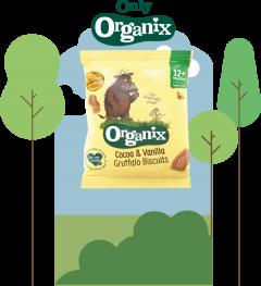 Organix Cocoa & Vanilla Gruffalo Biscuits 50 x 20g