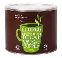 Clipper Fairtrade Organic Medium Roast Decaff 500g