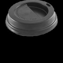 Black Lids for 8oz cups 1 x 1000