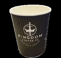 12oz Kingdom Triple Walled Ripple Cups 1 x 100