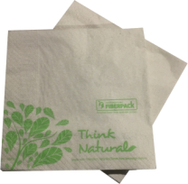 100% Recycled 33cm 2-Ply Brown Napkins 27 x 50