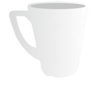 8oz Plain Latte Mug