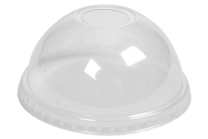 Clear Recyclable Plastic Domed 12oz Lids 1 x 1000