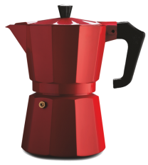 Pezzetti Italexpress 6 Cup Moka Pot Red