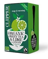 Clipper 1 x 20 Green Tea, Lime & Ginger