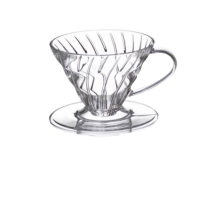 Hario Coffee Dripper V60 01 (Clear Plastic)