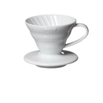 Hario Coffee Dripper V60 01 (White Plastic)