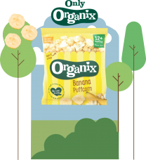 Organix Banana Puffcorn 24 by 10g