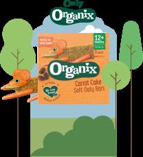 Organix Carrot Cake Oaty Bars 6 by 6 x 30g