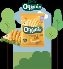 Organix Cheese & Herb Puffs 6 by 15g