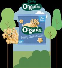 Organix Cheese Stars 5 by 20g