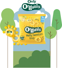 Organix Sweetcorn Rings 8 by 20g