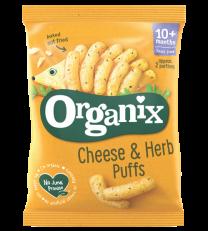 Organix Cheese & Herb Puffs (6 by 15g)