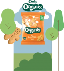 Organix Mini Gingerbread Men Biscuits 50 x 25g