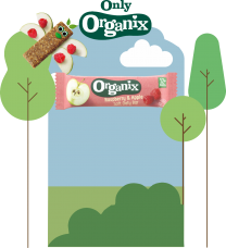 Organix Raspberry & Apple Oaty Bars 50 by 30g