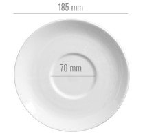 China Cup Saucer - Medium (D: 185mm)