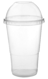 16oz Clear Recyclable Plastic Smoothie Cup 1 x 1000