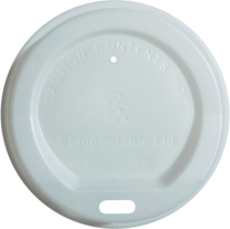 8oz 100% Compostable White Lids (strip of 100)
